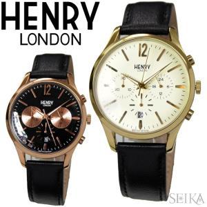 【当店ならお得クーポンあり】ヘンリーロンドン/時計 41mm/レザーウォッチ/メンズ|ryus-select
