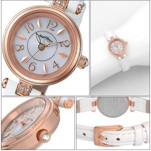 (ショップ袋付)エンジェルハート Angel Heartハッピープリズム 時計 腕時計 レディースHP22P-WH ソーラー電池 ホワイト レザー|ryus-select|02