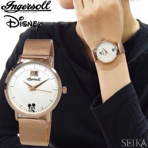 インガソール ディズニー Ingersoll Disney Classic CollectionID00504(14) 36mm ローズゴールド シルバーメンズ レディース 時計 腕時計ミッキー|ryus-select