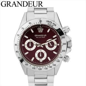 グランドール GRANDEUR メンズ 時計【JGR004W2】ワインレッド シルバー|ryus-select