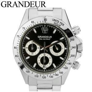 (レビューを書いて5年保証) (サマークリアランス) グランドール GRANDEUR メンズ 時計 (JGR004W3) ブラック シルバー|ryus-select