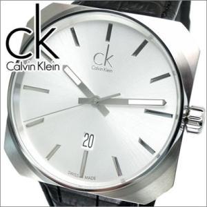 【クリアランス】 【11】カルバンクライン Calvin Klein メンズ 時計Ck Solid (シーケー ソリッド) シルバー×ブラックレザー【K1R21120】|ryus-select