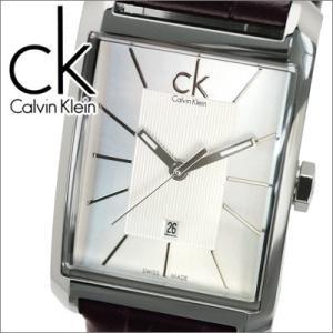 (9)カルバンクライン (K2M23126) レディース 時計 シルバー/ブラウンレザー|ryus-select