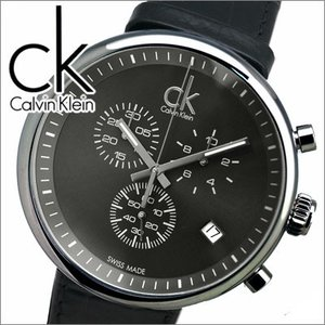 【当店ならお得クーポンあり】【クリアランス】(15)カルバンクライン/Calvin Klein メンズ 時計substantial(サブスタンシャル)ブラック/レザー(K2N271.C1)|ryus-select