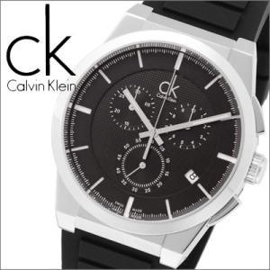 (20)カルバンクライン (K2S371D1) メンズ 時計 ブラック×ブラックラバー|ryus-select