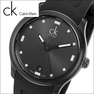 (71)カルバンクライン/Calvin Klein メンズ 時計(K2V214D1)(K2V214.D1)オールブラック/ブラックラバーヴィジブル(VISIBLE)|ryus-select