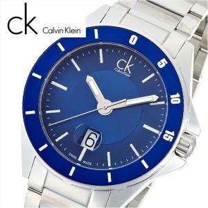 【当店ならお得クーポンあり】カルバンクライン Calvin Klein プレイ時計 腕時計 メンズブルー シルバー K2W21Z4N K2W21Z.4N (76)|ryus-select