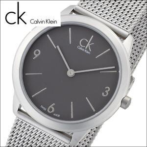 (77)カルバンクライン/Calvin Klein メンズ 時計(K3M52154)(K3M521.54)グレー×シルバー/メッシュミニマル(MINIMAL)|ryus-select