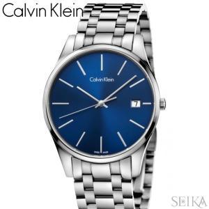 【当店ならお得クーポンあり】【105】カルバンクライン Calvin Klein メンズ 時計【K4N2114N】 ブルー シルバー|ryus-select