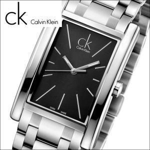 (84)カルバンクライン/Calvin Klein メンズ 時計(K4P21141)(K4P211.41)スクエア/ブラック×シルバーリファイン (REFINE)|ryus-select