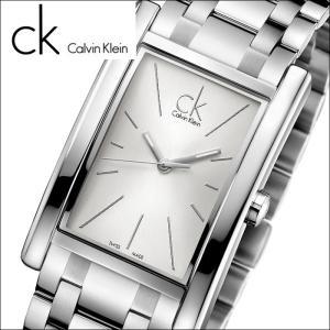 (5年保証) 時計 (85) カルバンクライン Calvin Klein メンズ (K4P21146) (K4P211.46) スクエア シルバーリファイン (REFINE)|ryus-select