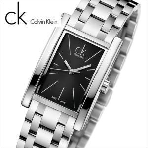 (88)カルバンクライン/Calvin Klein レディース 時計(K4P23141)(K4P231.41)スクエア/ブラック×シルバーリファイン (REFINE)|ryus-select