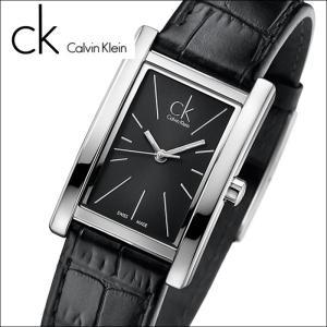 (90)カルバンクライン/Calvin Klein レディース 時計(K4P231C1)(K4P231.C1)スクエア/ブラック×ブラックレザーリファイン (REFINE)|ryus-select