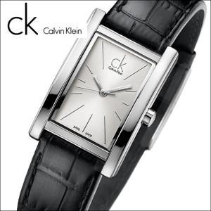 (91)カルバンクライン/Calvin Klein レディース 時計(K4P231C6)(K4P231.C6)スクエア/シルバー×ブラックレザーリファイン (REFINE)|ryus-select