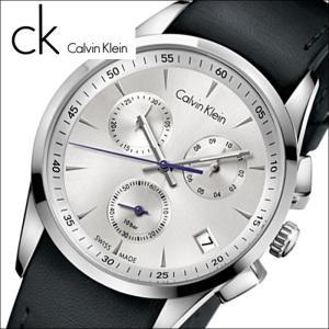 (92)カルバンクライン/Calvin Klein メンズ 時計(K5A271C6)(K5A271.C6)シルバー×ブラックレザーボールド(BOLD)|ryus-select