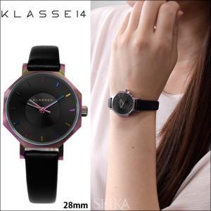 【当店ならお得クーポンあり】 クラス14 KLASSE14 オクト ヴォラーレ 時計 腕時計  レディース レザー 28mm ブラック レインボー OK17TI001S(69)|ryus-select