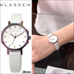 【当店ならお得クーポンあり】【クリアランス】クラス14 KLASSE14 オクト ヴォラーレ 時計 腕時計レディース レザー 28mm ホワイト レインボー OK17TI002S(70)|ryus-select