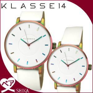 【当店ならお得クーポンあり】ペアウォッチ クラス14 KLASSE14時計 腕時計 メンズ レディースホワイト レインボー VO16TI003M(40) VO16TI003W(41)|ryus-select