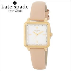 (5年保証) 時計 ケイトスペード Kate spade 腕時計 レディース ホワイト ベージュ スクエア KSW1113|ryus-select