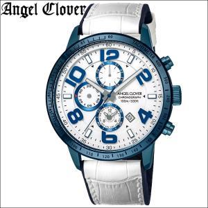 (レビューを書いて5年保証) (スプリングクリアランス) 時計 エンジェルクローバー LU44BNV-WH ルーチェ 腕時計 メンズ ブルー ホワイト レザー 父の日|ryus-select