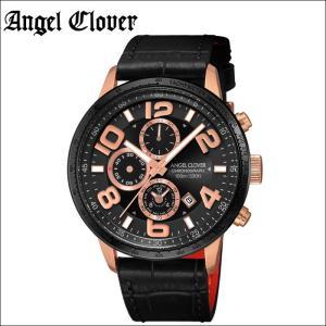 (5年保証) (スプリングクリアランス) 時計 エンジェルクローバー Angel Clover ルーチェLU44PBK-BL 腕時計 メンズブラック ピンクゴールド ブラックレザー|ryus-select