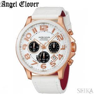 (レビューを書いて5年保証) 時計 エンジェルクローバー ソーラー LUS44P-WH 腕時計 メンズ ホワイト 父の日|ryus-select