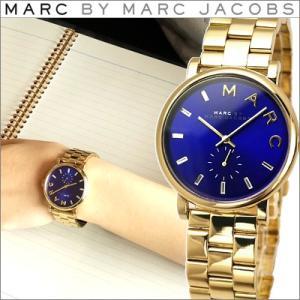 (レビューを書いて5年保証) 時計 マークバイ マークジェイコブス MBM3343 ベイカー レディース ユニセックス ゴールド ブルー (k-15)|ryus-select