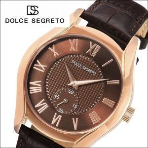 ドルチェ セグレート DOLCE SEGRETO メンズ 時計 (MEA200BR) ピンクゴールド ブラウン×ダークブラウンレザー|ryus-select