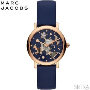 (レビューを書いて5年保証 時計 マークジェイコブス MARC JACOBS MJ1628 腕時計 レディース ネイビー レザー|ryus-select