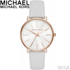 マイケルコース MICHAEL KORS MK2800時計 腕時計 レディース ホワイト レザー|ryus-select