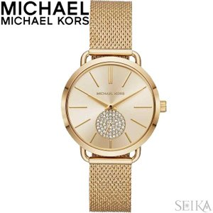 (レビューを書いて5年保証) 時計 マイケルコース MICHAEL KORS MK3844 腕時計 レディース ゴールド メッシュ|ryus-select