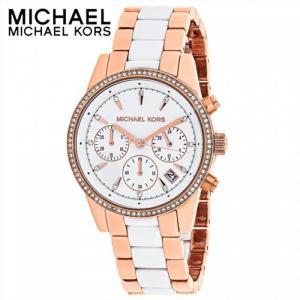 マイケルコース MICHAEL KORS MK6324時計 腕時計 レディース ホワイト ピンクゴールド クリスタル|ryus-select