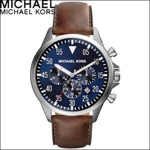 (レビューを書いて5年保証) 時計 マイケルコース MICHAEL KORS メンズ (MK8362) ネイビー×ブラウンレザー|ryus-select