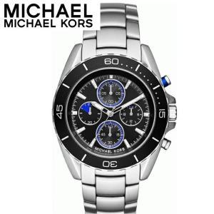 【商品入れ替えクリアランス】マイケルコース MICHAEL KORS MK8462 時計 腕時計 メンズ ブラック シルバー (k-15)|ryus-select