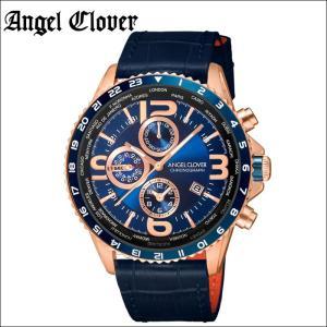 (レビューを書いて5年保証) 時計 エンジェルクローバー Angel Clover モンドMO44PNV-NV 腕時計 メンズブルー ピンクゴールド ブルーレザー 父の日|ryus-select