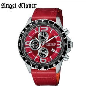 エンジェルクローバー Angel Clover モンドMO44SRE-RE 時計 腕時計 メンズレッド シルバー レッドレザー|ryus-select
