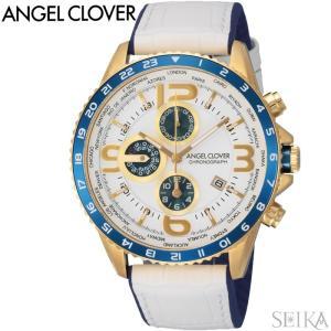(レビューを書いて5年保証) (スプリングクリアランス) 時計 エンジェルクローバー Angel Clover MO44YNV-WH 腕時計 メンズ ホワイト レザー 父の日|ryus-select