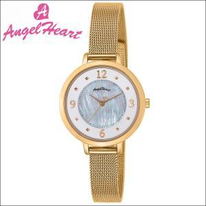 (ショップ袋付)エンジェルハート Angel Heartヌーディ―ドロップ 腕時計 レディースND30YG ソーラー ホワイトシェル メッシュ|ryus-select