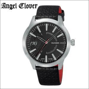 (5年保証) (スプリングクリアランス) 時計 エンジェルクローバー Angel Cloverナンバーナイン NN42SBK-BK 腕時計 メンズブラック シルバー ブラックレザー|ryus-select