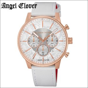 (レビューを書いて5年保証) 時計 エンジェルクローバー Angel Cloverナンバーナイン NNC42PWH-WH 腕時計 メンズシルバー ピンクゴールド ホワイトレザー 父の日|ryus-select
