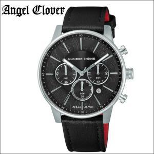 (レビューを書いて5年保証) 時計 エンジェルクローバー Angel Cloverナンバーナイン NNC42SBK-BK 腕時計 メンズブラック シルバー ブラックレザー 父の日|ryus-select