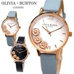 (レビューを書いて5年保証) (サマークリアランス) 時計 オリビアバートン フラワー 腕時計 レディース 30mm レザー|ryus-select