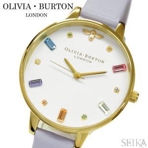 (レビューを書いて5年保証) 時計 オリビアバートン OLIVIA BURTON OB16RB11 (68) ホワイト パルマバイオレット 腕時計 レディース レザー|ryus-select