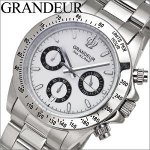 時計 グランドール GRANDEUR メンズ OSC026W1 ホワイト×シルバー|ryus-select