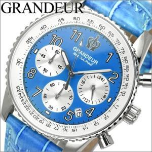 グランドール/GRANDEUR メンズ 時計 OSC028W5/ライトブルー/レザー|ryus-select