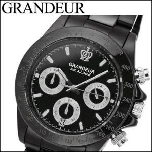 グランドール GRANDEUR メンズ 時計 (OSC031W1) ブラック|ryus-select