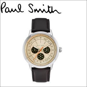 ポールスミス/PAUL SMITH 腕時計(P10002)ライトベージュ×ブラウンレザー|ryus-select