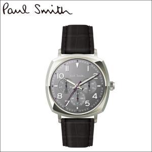 ポールスミス/PAUL SMITH 腕時計(P10045)グレー×シルバー/ブラックレザー|ryus-select