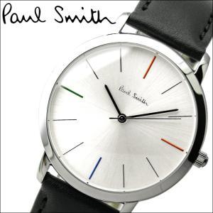 【秋のポイント祭!5〜11倍】ポールスミス/PAUL SMITH 腕時計(P10051)シルバー×ブラックレザー|ryus-select