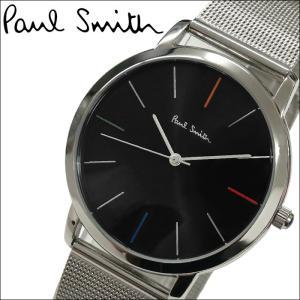 【当店ならお得クーポンあり】ポールスミス/PAUL SMITH 腕時計(P10055)ブラック×シルバー ryus-select